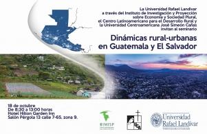Seminario Dinámicas rural-urbano en Guatemala y El Salvador