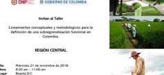 Taller Lineamientos conceptuales y metodológicos para la definición de una subregionalización funcional en Colombia